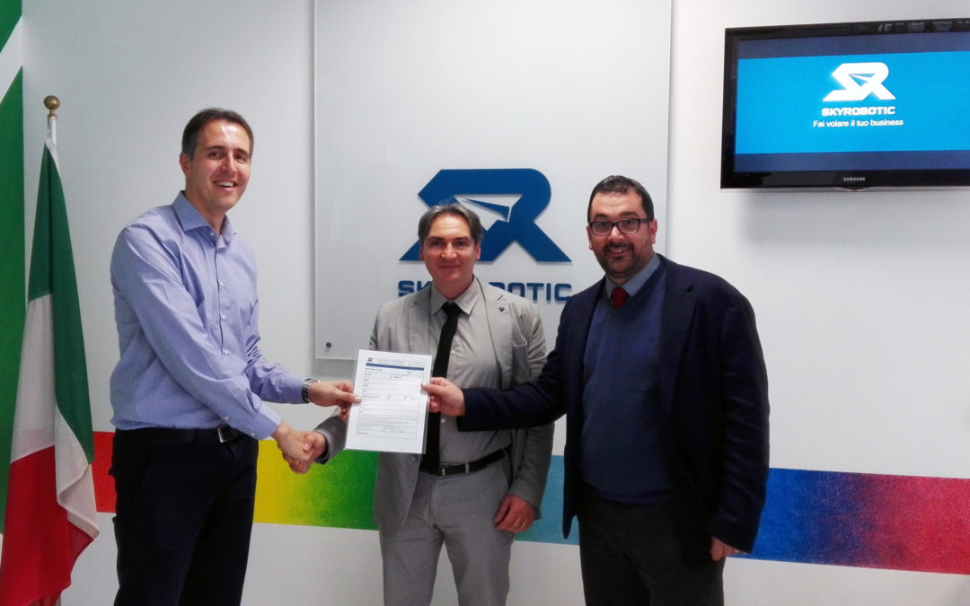 Skyrobotic delivered to Vitrociset the first certificate drone
